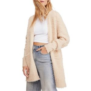 NWT Free People Once In A Lifetime Open Cardigan L